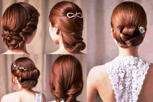 Peachy Bridal Hairstyles For The D Day Aura Beauty Parlour Short Hairstyles Gunalazisus